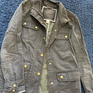 J Crew army and gold military jacket